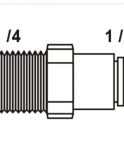Tiger Straight Adaptor 1/4
