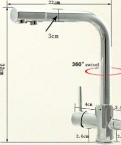 3 Way High Flow Water Filter Tap