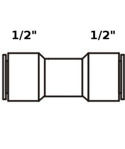 Tiger Straight Adapter 1/2