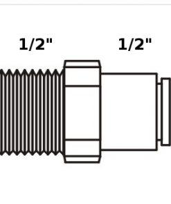 Tiger Straight Adaptor 1/2