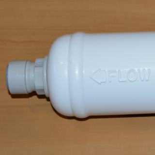 Insinkerator compatible inline water filter change over kit